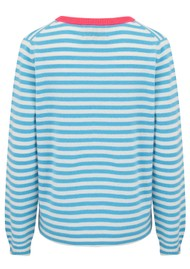 JUMPER 1234 Stripe Cashmere Sweater - Pink, Azure & Cream