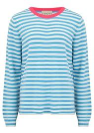 JUMPER 1234 Stripe Cashmere Sweater - Pink, Azure & Cream