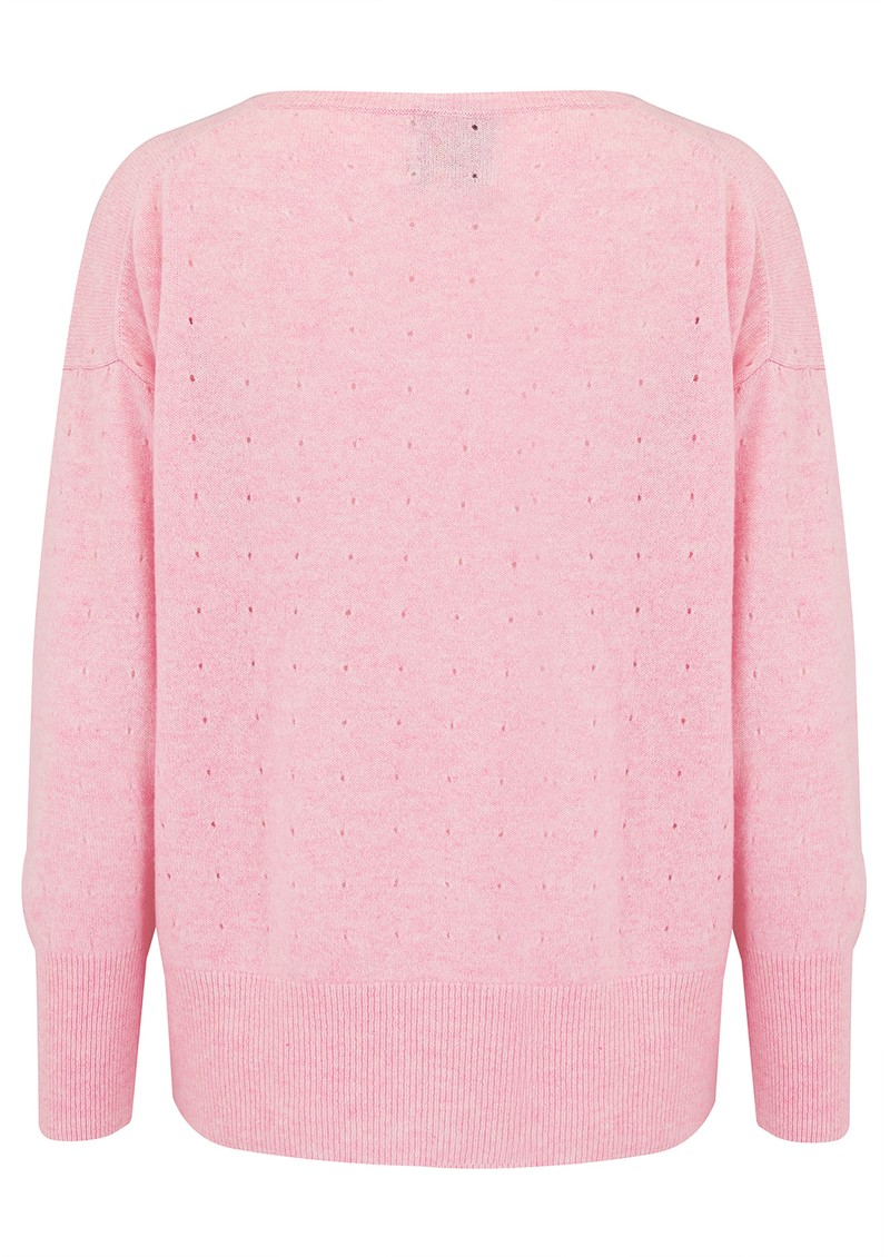 JUMPER 1234 Holy Vee Cashmere Sweater - Pink Marl main image