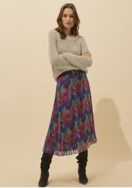 Ba&sh Paolo Pleated Midi Skirt - Green