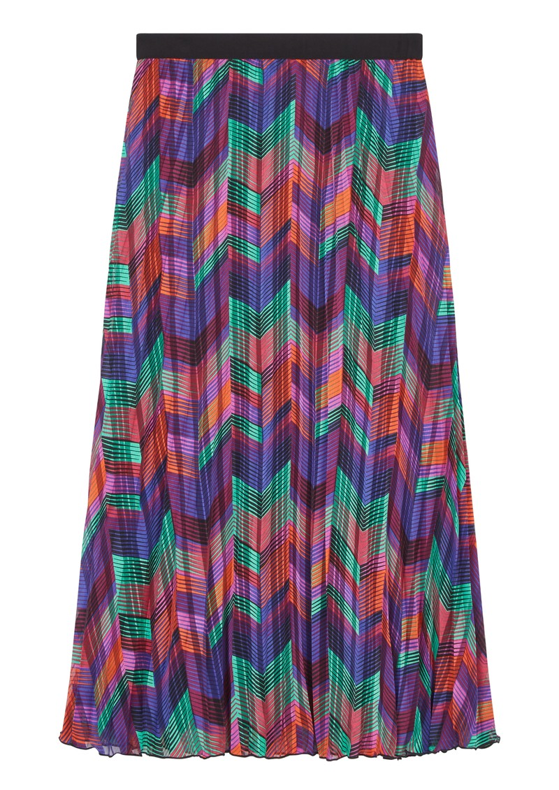 Ba&sh Paolo Pleated Midi Skirt - Green main image