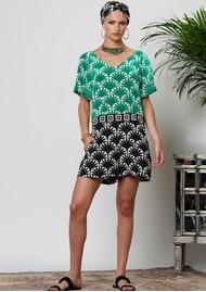 HAYLEY MENZIES Marrakesh Short Jumpsuit - Black & Green