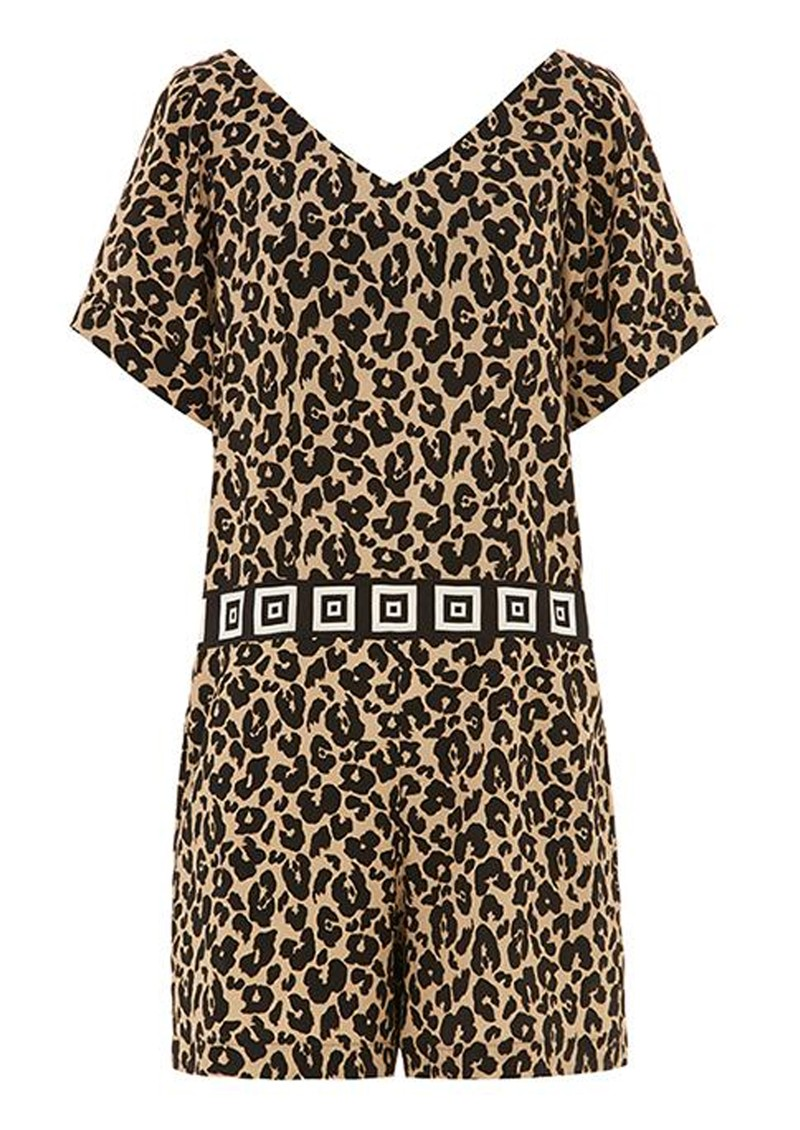 HAYLEY MENZIES Sahara Short Jumpsuit - Leopard main image