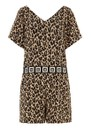 Sahara Short Jumpsuit - Leopard additional image