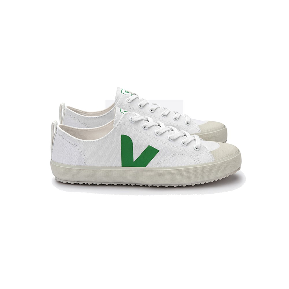 Nova Canvas Trainers - White & Emeraude