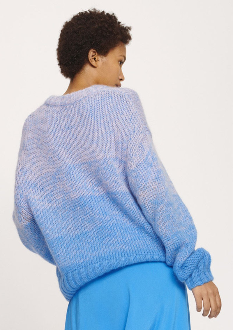 SAMSOE & SAMSOE Cyrielle O-N Short Sweater - Faded Aster main image