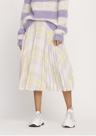 SAMSOE & SAMSOE Juliette Pleated Midi Skirt - Check Me Out