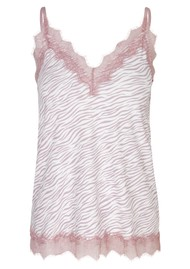 Rosemunde Billie Lace Strap Top - Ivory Zebra
