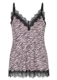 Rosemunde Billie Lace Strap Top - Vintage Zebra