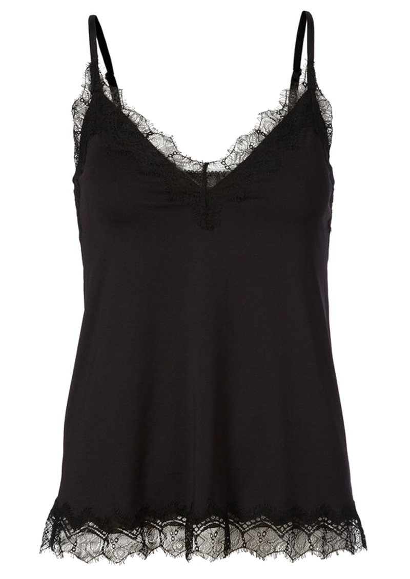 Rosemunde Billie Lace Strap Top - Black main image