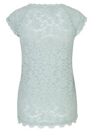 Rosemunde Delicia Short Sleeve Lace Top - Cloud Blue