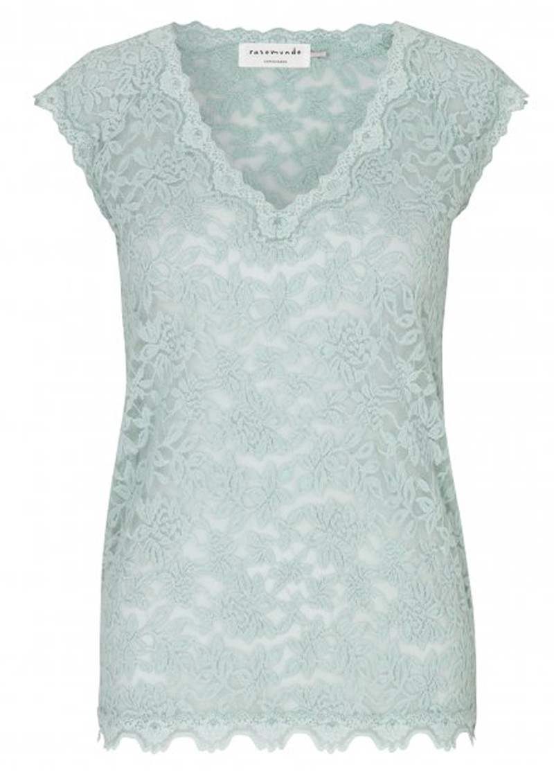 270a70a25f2698 Delicia Short Sleeve Lace Top - Cloud Blue main image