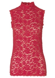 Rosemunde Delicia Sleeveless High Neck Top - Strawberry
