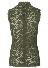 Rosemunde Delicia Sleeveless High Neck Top - Burnt Olive