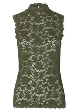 05cffaee13cf Rosemunde Delicia Sleeveless High Neck Top - Burnt Olive