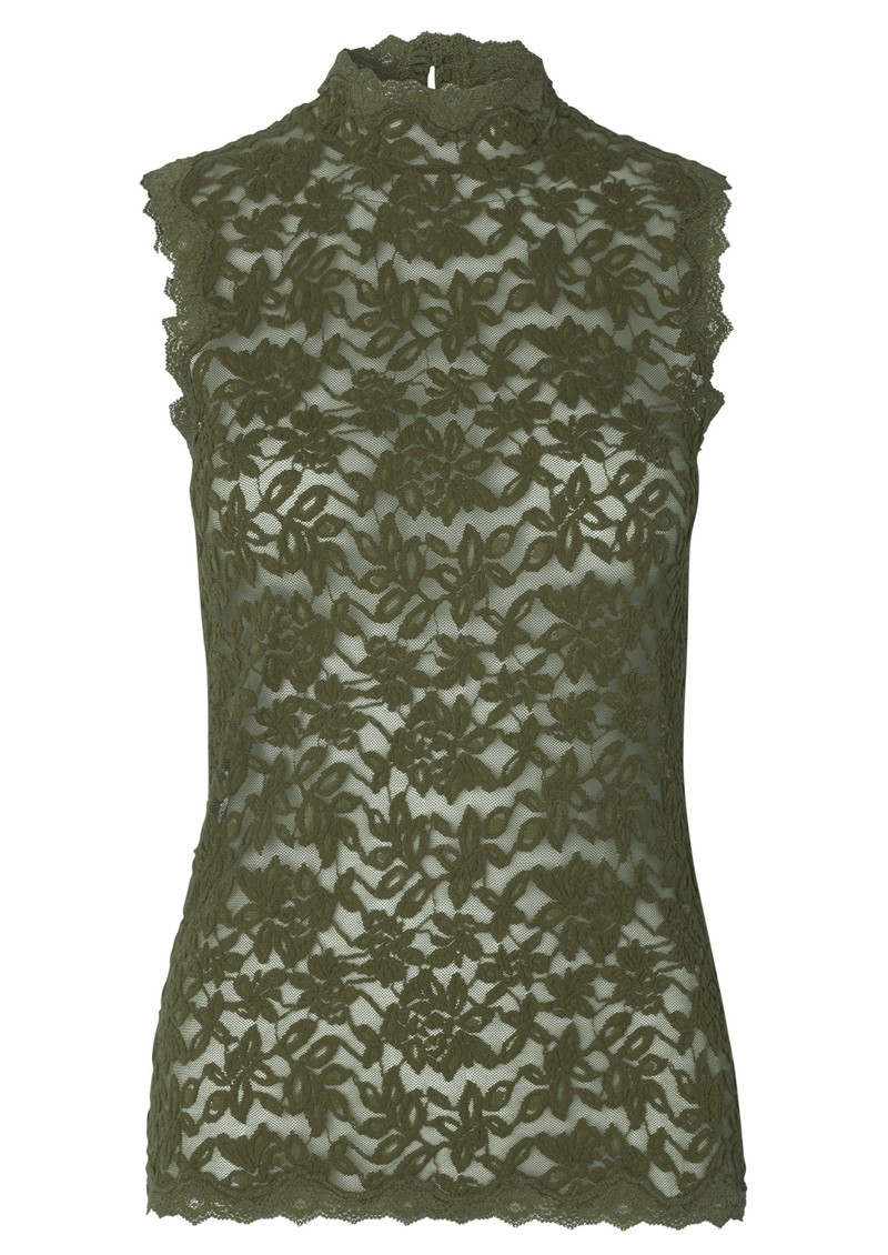 Rosemunde Delicia Sleeveless High Neck Top - Burnt Olive main image