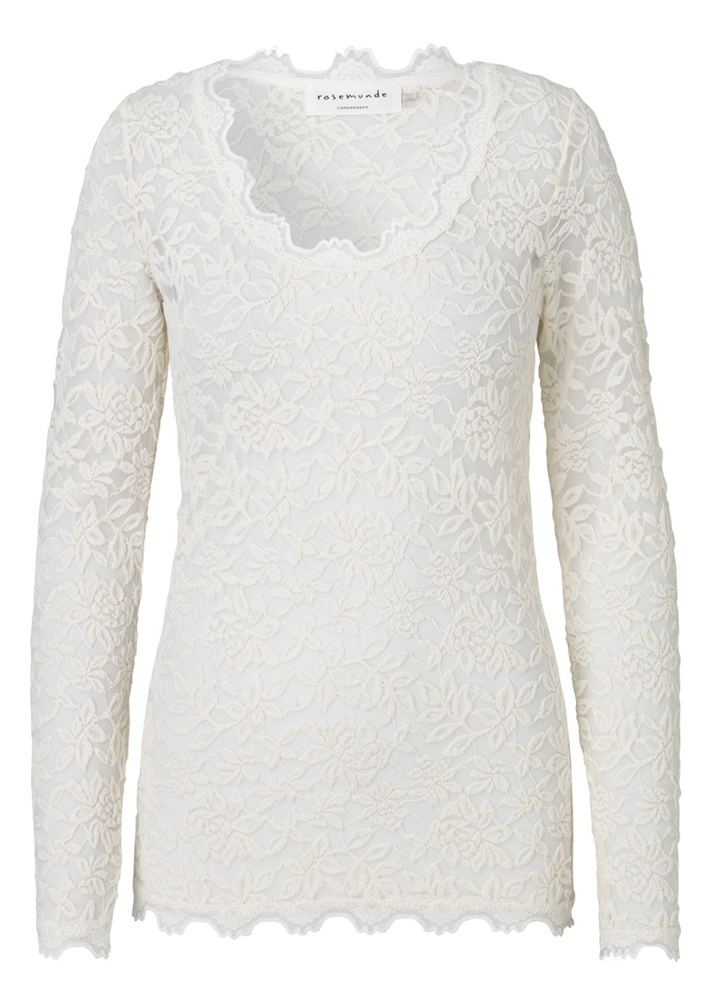 Rosemunde Delicia Long Sleeve Lace Top - Ivory Silver main image