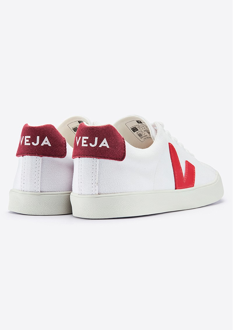 Esplar SE Canvas Trainers - White, Pekin & Marsala main image