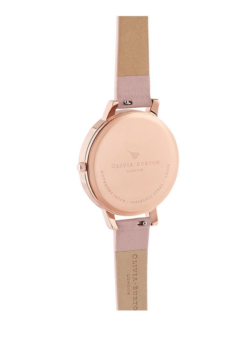 Olivia Burton Painterly Prints Big Dial Watch - Dusty Pink & Rose Gold main image