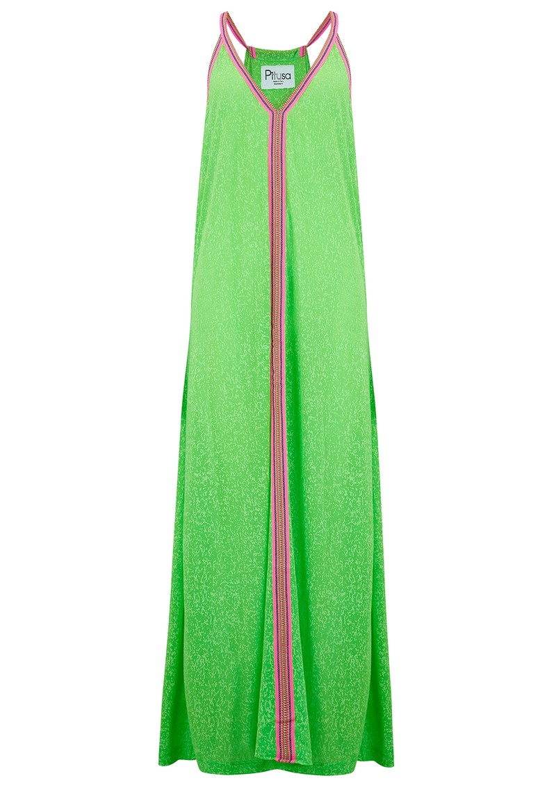 PITUSA Inca Sun Dress - Lime main image
