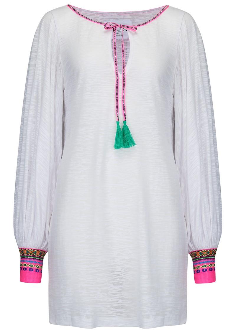 PITUSA Inca Cuff Dress - White main image