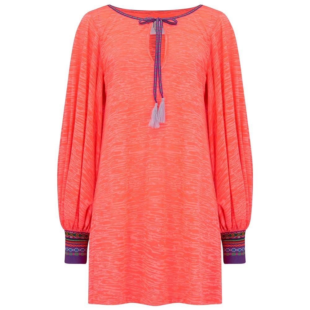 Inca Cuff Dress - Coral