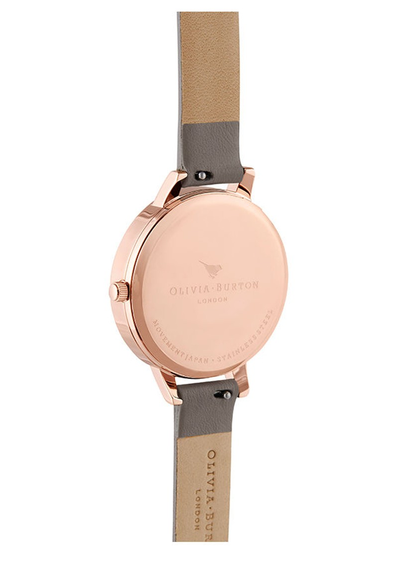 Olivia Burton Pretty Blossoom Demi Dial Watch - London Grey & Rose Gold main image