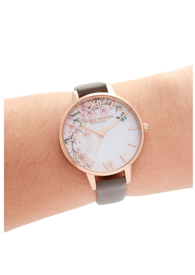Pretty Blossoom Demi Dial Watch - London Grey & Rose Gold main image