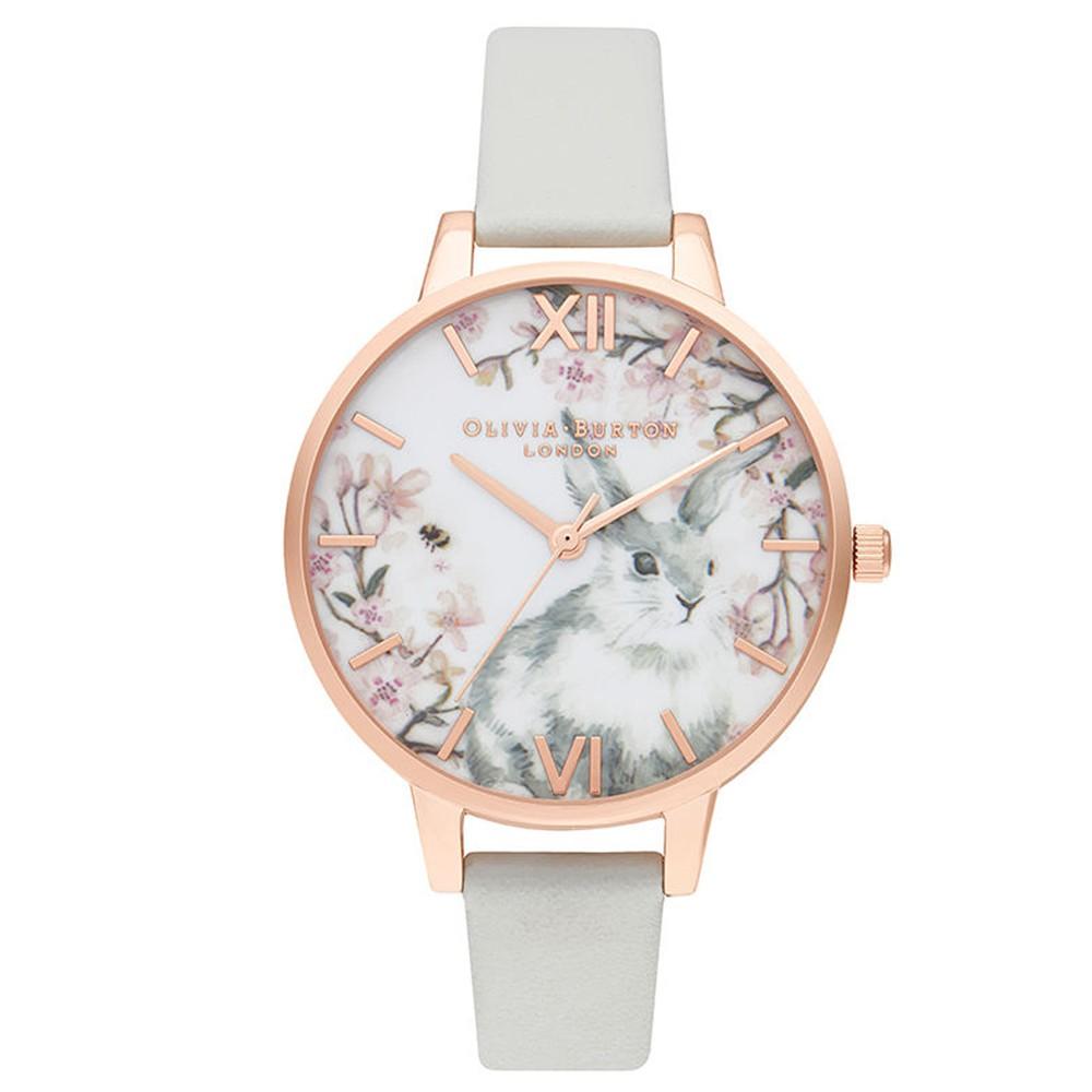 Bunny Vegan Friendly Demi Dial Watch - Grey & Rose Gold