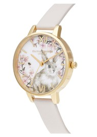 Olivia Burton Bunny Vegan Friendly Demi Dial Watch - Blush & Gold