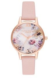 Olivia Burton Sunlight Florals Midi Dial Watch - Pink, Blush & Rose Gold