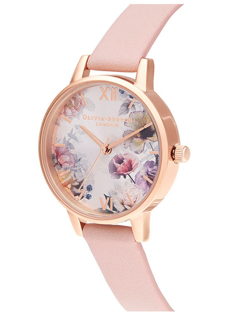 Olivia Burton Sunlight Florals Midi Dial Watch - Pink, Blush & Rose Gold main image
