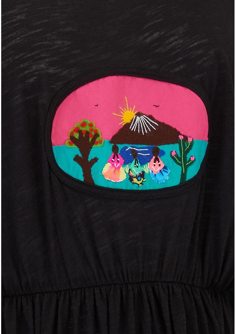 PITUSA Campesino Dress - Black main image