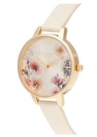 Olivia Burton Sunlight Florals Vegan Friendly Big Dial Watch - Nude & Gold