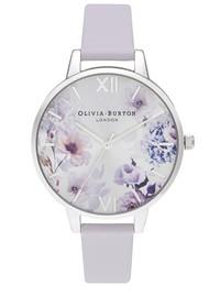 Olivia Burton Sunlight Florals Demi Dial Watch - Parma Violet & Silver