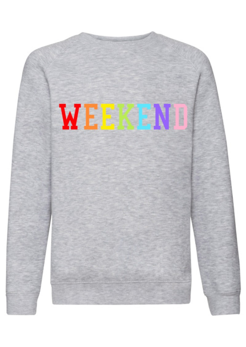 ON THE RISE Weekend Rainbow Jumper - Grey main image