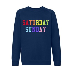 Saturday Sunday Rainbow Sweater - Navy