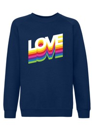 ON THE RISE Love Rainbow Jumper - Navy