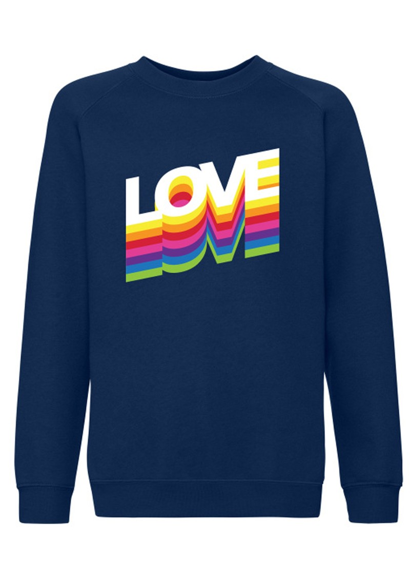 ON THE RISE Love Rainbow Jumper - Navy main image