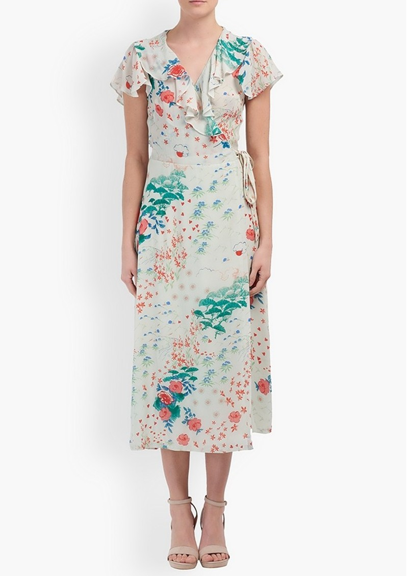 Lily and Lionel Trixie Wrap Dress - Wonderland Ivory main image
