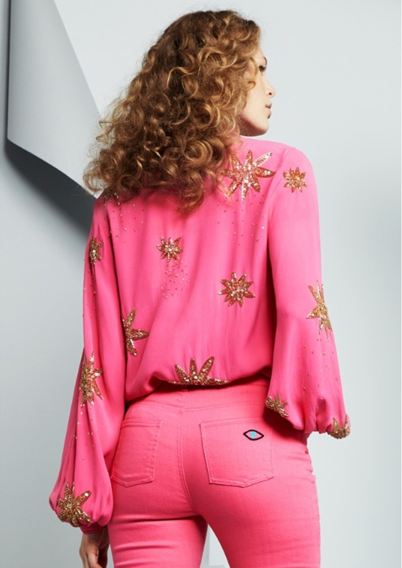 FABIENNE CHAPOT Fleur Show Blouse - Bright Pink main image