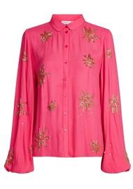 FABIENNE CHAPOT Fleur Show Blouse - Bright Pink