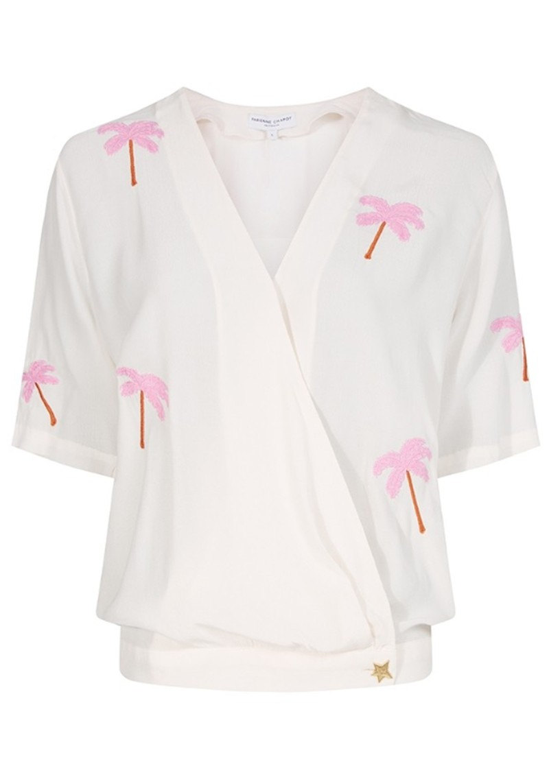 FABIENNE CHAPOT Vera Palm Tree Embroidered Top - Off White main image