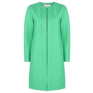 Collarless Coat - Jade