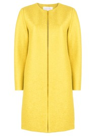 HARRIS WHARF Collarless Coat - Pineapple