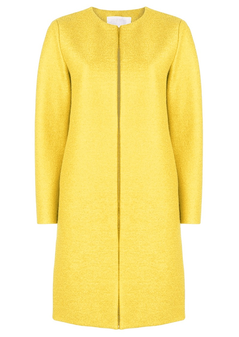 HARRIS WHARF Collarless Coat - Pineapple main image