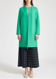 HARRIS WHARF Collarless Coat - Jade