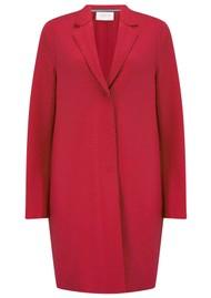 HARRIS WHARF Cocoon Coat - Hibiscus