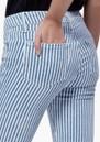 Paige Denim Verdugo Crop Raw Hem Skinny Jeans - Sky Blue Stripe