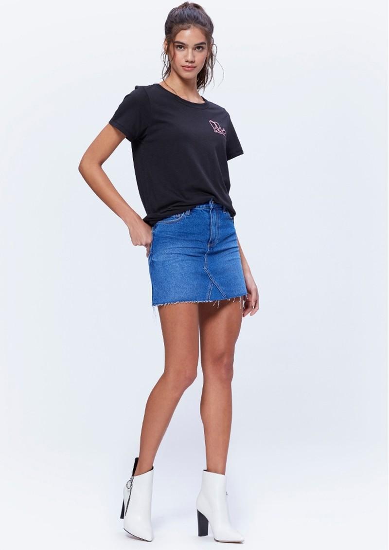 Paige Denim Aideen Denim Raw Hem Skirt - St Clair main image